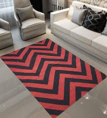 designs view red black indian wool 72 x 48 inch hand made geometric design dhurrie