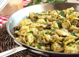 skillet tortellini with sausage and pesto the suburban soapbox