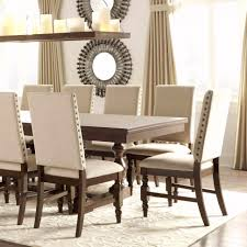 perfect upholstered dining chair with nailhead lovely tufted white trim arm oak leg uk caster metal
