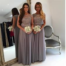 Floor Length Lace Appliques Gray Long Chiffon Alexia Bridesmaids Dresses 2020 A Line Plus Size Simple Cheap Summer Beach Maid Of Honor Gowns Baby Blue