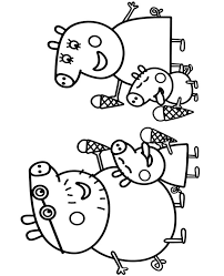 The show revolves around peppa, an anthropomorphic. Peppa Pig Family Coloring Page To Print