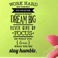 inspirational pictures for office. free shipping motivation wall decals office room decor never give up work hard dream big inspirational quote stickers pictures for