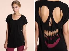skull back hollow cut out top diy