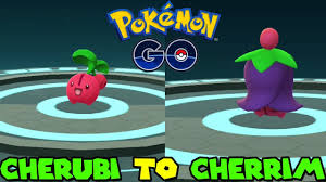 Pokemon Cherrim Evolution Chart Evolve Cherubi Pokemon Go