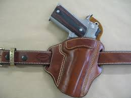 Safariland Glock 21 Light Bearing Holster Azula Leather Owb 2 Slot Pancake Belt Holster Ccw For Choose Color Gun 1