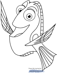 Dory Coloring Pages Finding Disney Book