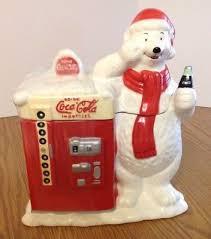 Coke Polar Bear In Bottle Vending Machine Impressive COCA COLA CERAMIC Polar Bear Vending Machine Cookie Jar Vintage 48T