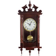 bedford clock collection cherry oak pendulum wall clock