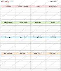 Free Printable Blank Grocery List Microsoft Word Grocery List Template Chaserpunk