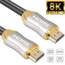 Cáp HDMI 1M 2M 3M 8K Công Nghệ Tốt Nhất 4K 60HZ UHD HDR 48Gbps V2.1 Cho  Xiaomi Màn Hình Samsung HDTV PS4 Bộ Chia Cáp Âm Thanh Video 8K HDMI -