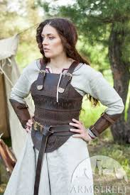 women s leather corset armor shieldmaiden available in brown leather black leather by meval armstreet