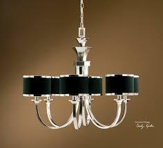 black shade chandelier