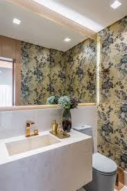 Banheiro moderno e funcional iost arquitetura e interiores banheiros modernos cerâmica efeito de madeira. Inspire Se Com 8 Ideias Originais Para Decorar O Lavabo