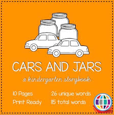 Word Cars Cars And Jars Kindergarten Sight Word Storybook Tpt