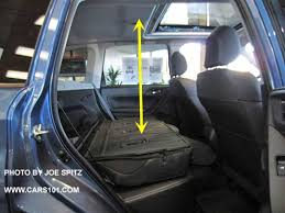 2016 subaru forester cargo floor to ceiling height