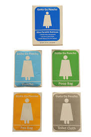 Disposable Toilet 1 Pack Pocket Sized Disposable Restroom Urinal Fecal Toilet