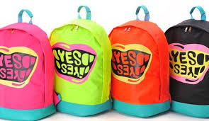 New Big Mouth YES Pattern Bag <b>Candy Fluorescent Color</b> Backpack