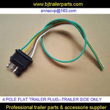4 pole plug wiring wiring diagram 4 pole pin trailer plug flat trailer plug wiring harness kit