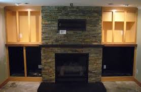 Terrific Stacked Wood Fireplace Facade Pics Ideas