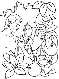 Small Picture First Human Being on Earth Adam And Eve Coloring Pages Kids Aim