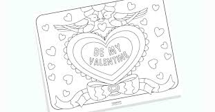 Printable Valentine Coloring Pages No Prep Valentines Day Free For ...
