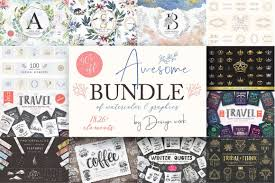 Elements By Design Awesome Bundle Of 1826 Graphic Elements Only 17