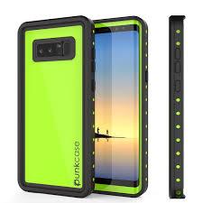 samsung note 8 case. galaxy note 8 waterproof case punkcase studstar light green thin 6.6ft underwater ip68 shockproof samsung e