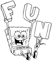Coloring Pages Free For Kids Printable Spongebob Pictures Easter