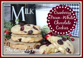 cranberry pecan white chocolate chunk cookies at the everyday home