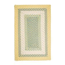 home decorators collection blithe yellow 2 ft x 3 ft rectangle braided area rug