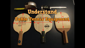 Understand Table Tennis Equipment Choose Best Paddle And Rubber