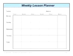 Cute Lesson Plan Template Free Editable Download Plans In