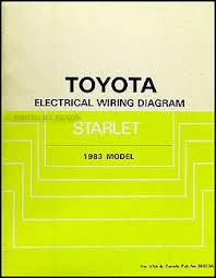 1983 toyota starlet wiring diagram manual original