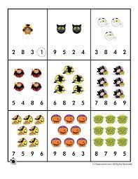 Preschool Worksheets for Halloween Halloween Number Recognition ...