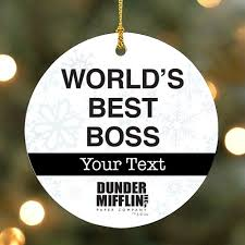 the office christmas ornament.  Ornament Personalized The Office Worldu0027s Best Boss Ornament  With Christmas M
