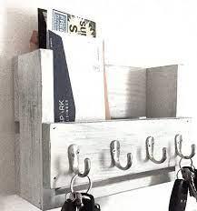reclaimed wood key rack entryway shelf