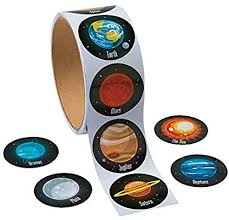 Fun Express Solar System Roll Stickers (100 Stickers ... - Amazon.com