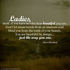 Beautiful Ladies Quote Best Of Quotes About Lady's Beauty 24 Quotes