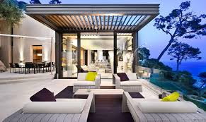 elegant outdoor furniture. aluminum pergola glass railing elegant outdoor furniture soft lights