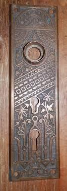 antique looking door knobs. Eastlake Style Door Knob Plate Double Key Hole, Front Door. Cast Brass Antique Looking Knobs C