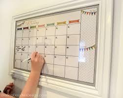 diy dry erase calendar darling
