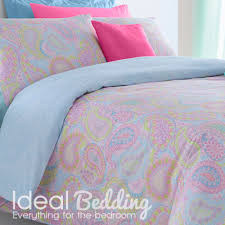pieridae paisley multi colour duvet quilt bedding cover and pillowcase pink bedding set duvet sets complete bedding sets bed sheets pillowcase