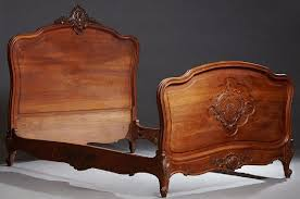 French Louis XV Style Carved Mahogany Bed, early 20th
