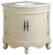 24 antique style white corner shape bayview bathroom sink vanity
