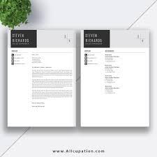 Creative Resume Template Cover Letter Word Modern Simple Teacher