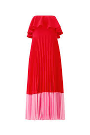 Red Pleated Tea Dress By Aidan Mattox For 30 40 Rent