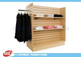 T Shirt Stand Display Supermarket SGS Slatwall Display Stands For T Shirt Custom 80