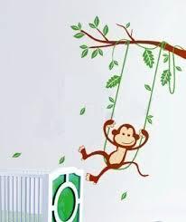 swinging monkey wall decal wall sticker part 25