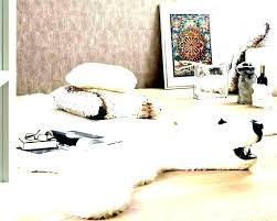 faux bear skin rug with head for nursery fake polar animal rugs ideas interior he