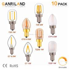 E14 Led Light Bulb Ganriland C7 T20 T22 Mini Edison Led Bulb E12 E14 Led Filament Night Light Bulb 0 5w 1w 2w Retro Chandelier Lamp Dimmable Canada 2019 From